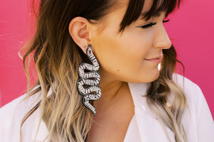 Glam Snake Statement Studs