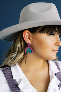 Rainbow Mood Drop Earrings
