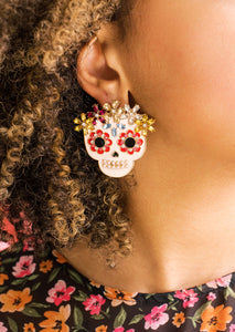 Sugar Skull Queen Statement Studs