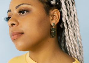 I Am My Inspiration Drop Earrings