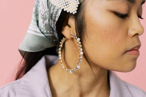 Pearly Gem Hoops