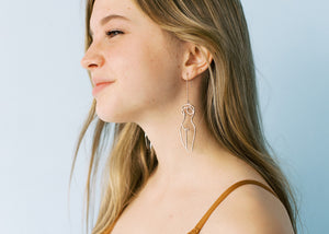 Who I am is Enough Drop Earrings