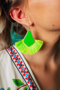 Neon Lights Fringe Earrings