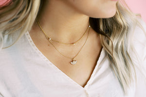 Opal Necklace-HYPOALLERGENIC