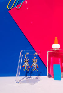 Glam Robot Drop Earrings
