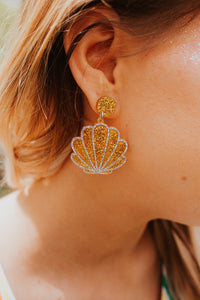Seashell Glam Drop Earrings