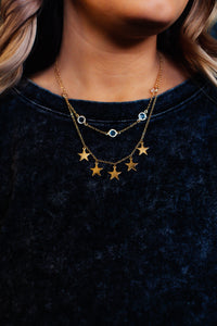 Star Shine Layered Necklace
