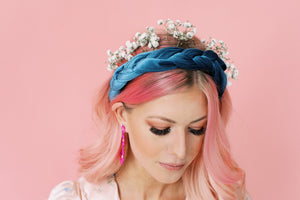 Teal Queen Braided Headband