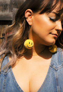 Good Vibes Pom Drop Earrings