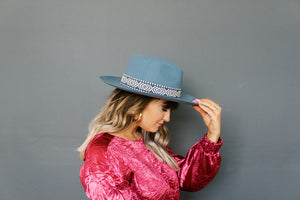 Steel Blue Hat
