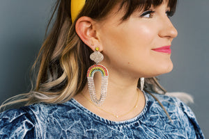 Rainbow Glam Drop Earrings