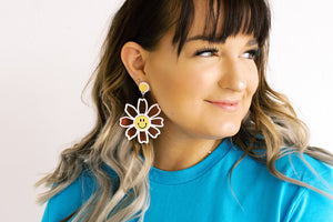 Happy Daisy Drop Earrings