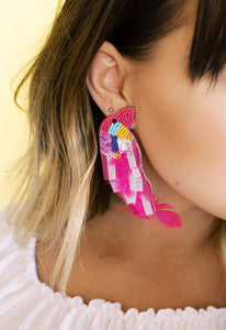 Up With The Birds Statement Studs