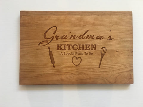 Grandma's Kitchen Rectangular Board