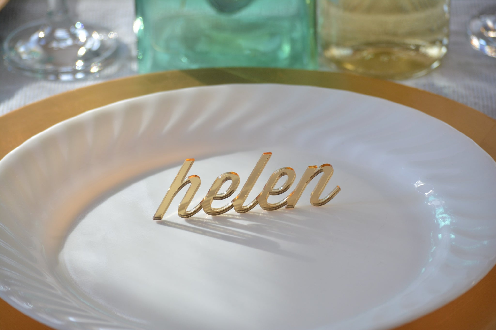 Acrylic Wedding Guest Names