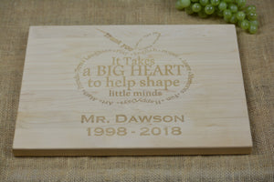 Personalized Cutting Board- Teacher/Retirement