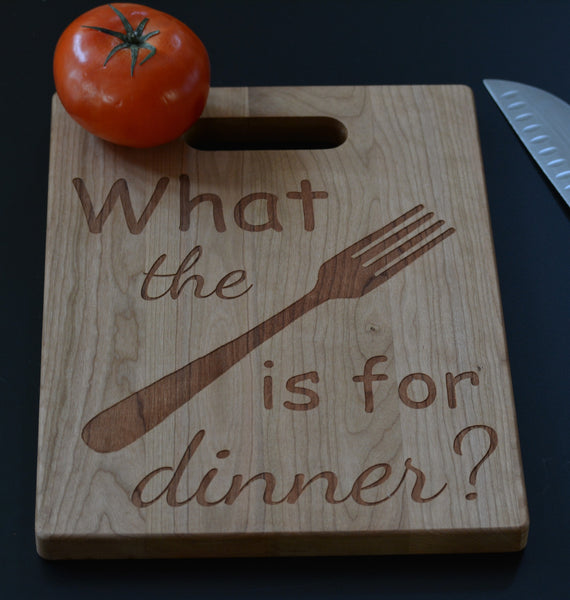 What the fork is for dinner cutting board