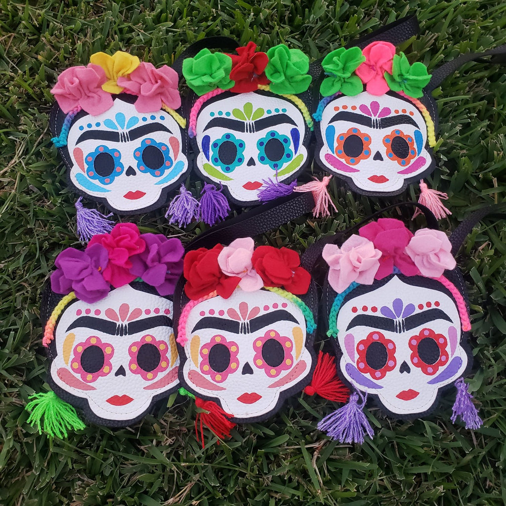 Frida Skull Coin Purse. Handmade with love by Mexican Artisans.