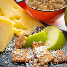 Load image into Gallery viewer, Cheesy Cookies: Mature Cheddar, Apples and Parmesan (100g)