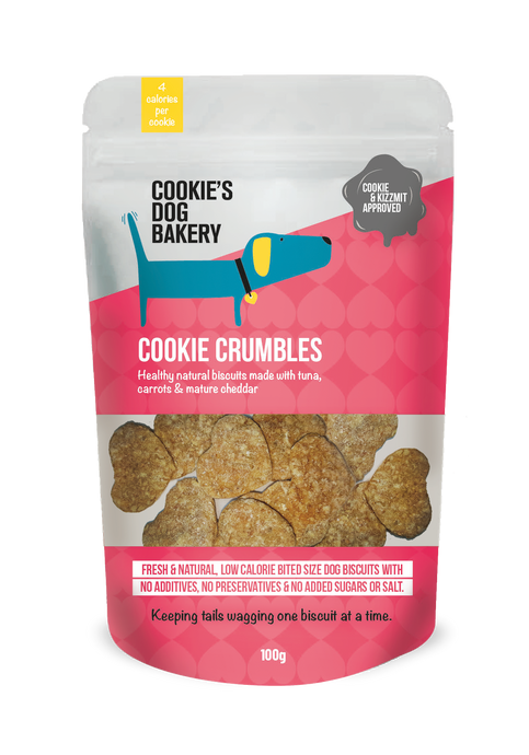 Cookie Crumbles: Tuna and Organic Carrot Cookies (100g)