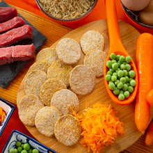 Load image into Gallery viewer, Moo-Moo Cookies: Beef, Peas and Carrot Cookies (100g)