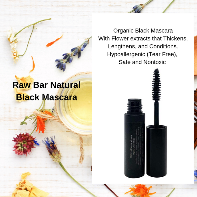 Natural Organic Black Mascara - All Natural, Organic Ingredients, Vegan, Cruelty Free, Gluten Free