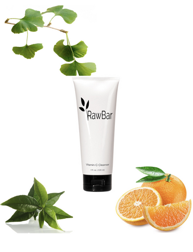 Raw Bar Vitamin C Botanical Cleanser Natural Extracts-Paraben Free-Gluten Free-Nuts and Dairy Free
