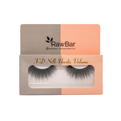 RawBar 3D Silk Nordic Volume Eyelashes-Cruelty free-Black/Clear band