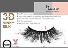 Load image into Gallery viewer, RawBar 3D Silk Nordic Volume Eyelashes-Cruelty free-Black/Clear band