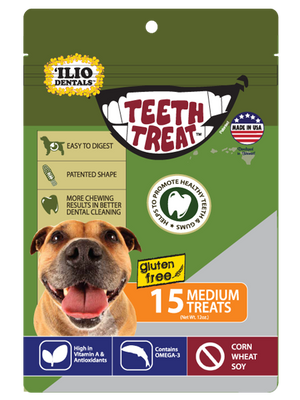 12 OZ - TEETH TREAT MEDIUM, 15 PCS