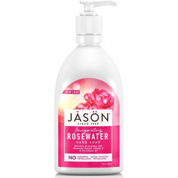 JASON Invigorating Rosewater Hand Soap 473ml