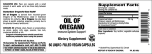 Elixir Oil of Oregano Liquid Filled Veg Caps
