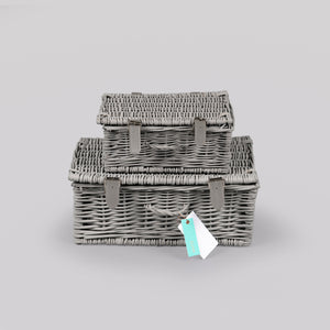 Elixir - medium empty grey hamper