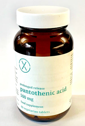 Elixir Pantothenic Acid 500 mg Veg 60 Tablets PR