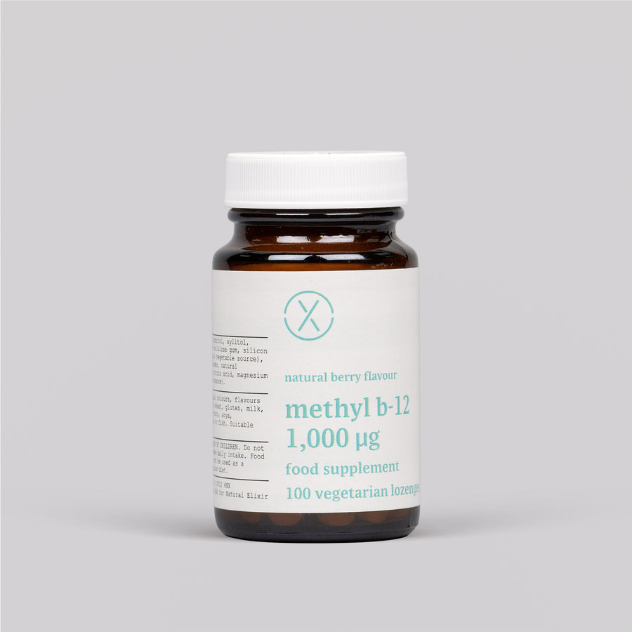 Elixir Methyl B12 1,000 mcg Veg Lozenge - Natural Berry Flavour