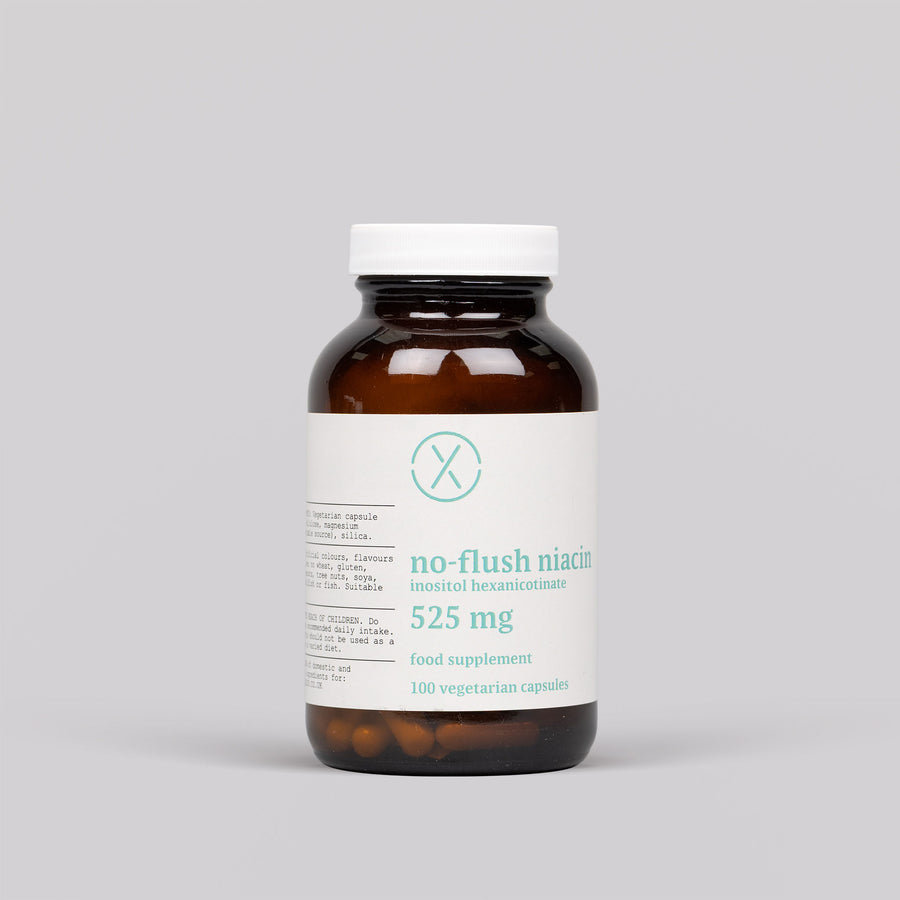 Elixir No-Flush Niacin Inositol Hexanicotinate Veg Caps
