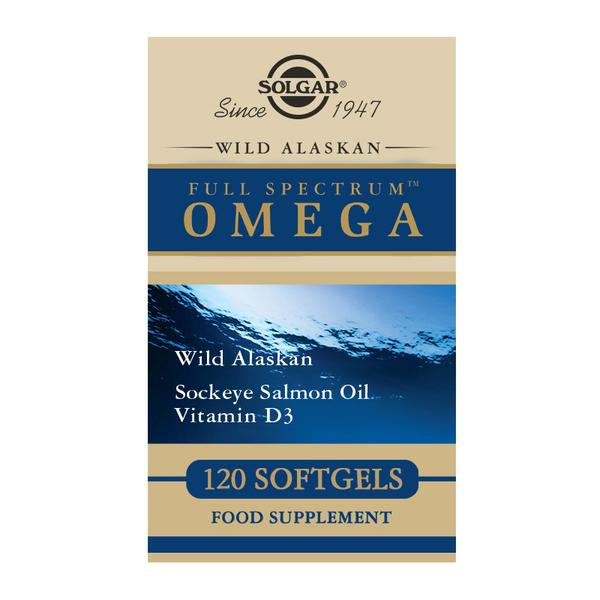 Solgar Wild Alaskan Full Spectrum OMEGA salmon oil - 120 Softgels