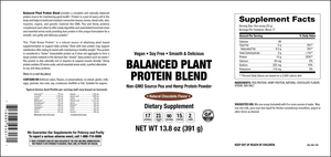 Elixir Balanced Plant Protein Blend Natural Chocolate Flavour 391g