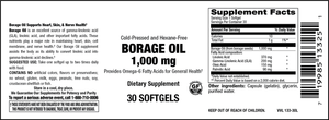 Elixir Borage Oil 1,000 mg Cold Pressed and Hexane Free Softgels