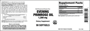 Elixir Evening Primrose Oil 1,300 mg Cold Pressed and Hexane Free 90 Softgels