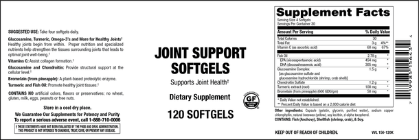 Elixir Joint Support 120 Softgels