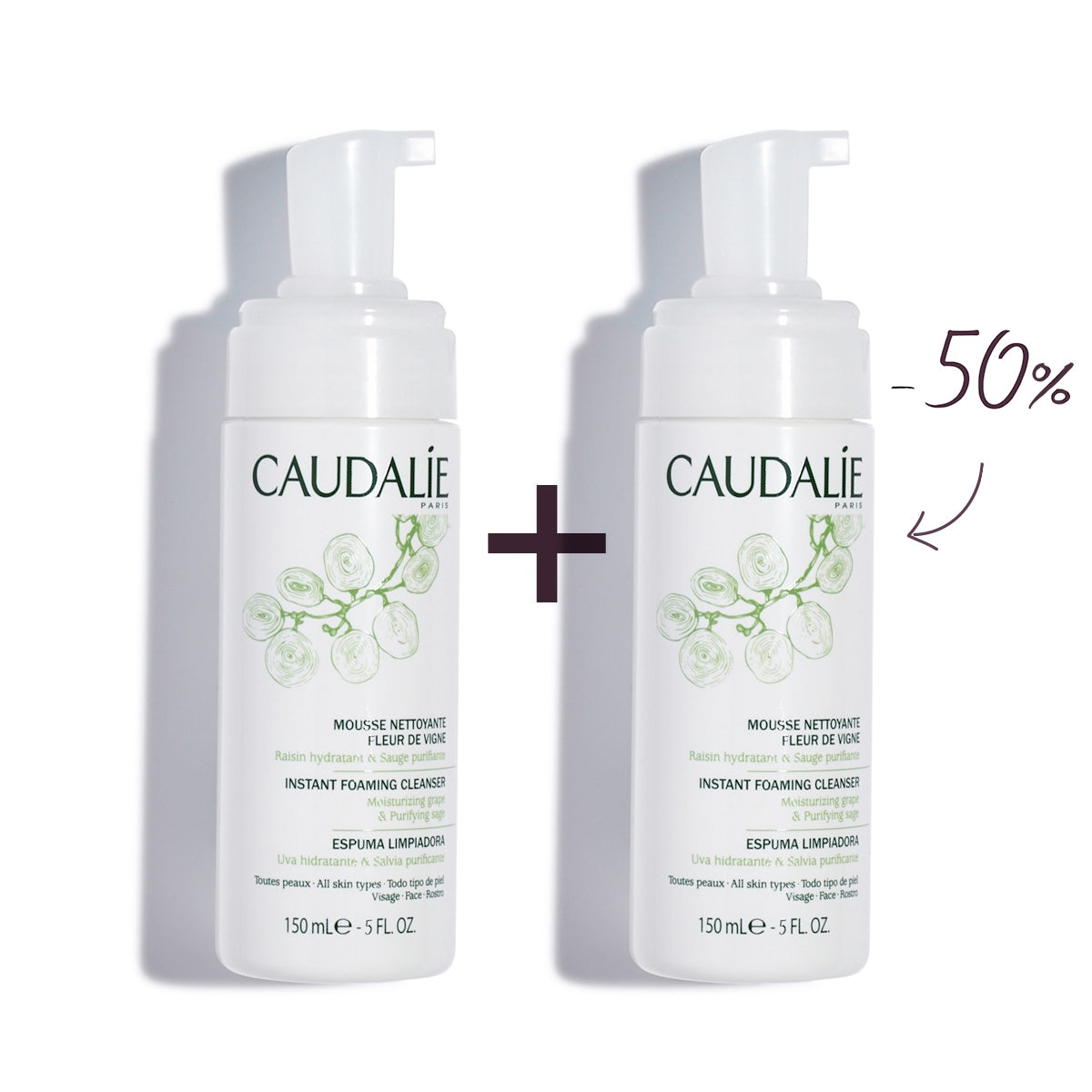 CAUDALIE Instant Foaming cleanser DUO 150ml x2