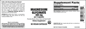 Elixir Magnesium Glycinate 400 mg 90 Veg Caps