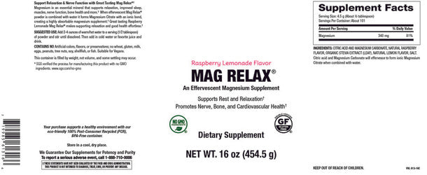Elixir Magnesium powder- Raspberry Lemonade Flavour 454g