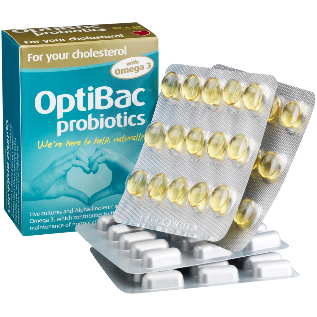 OPTIBAC probiotics For your chlosterol 14 capsules