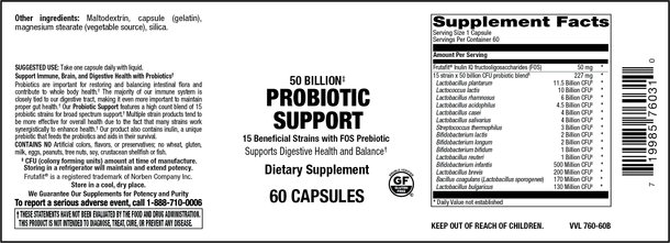 Elixir 50 Billion Probiotic Support 60 Capsules