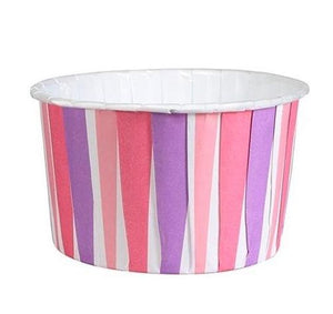 Pink & Purple Striped Baking Cups