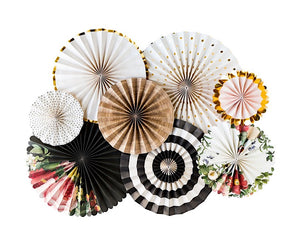 Botanical Party Paper Fan Rosettes