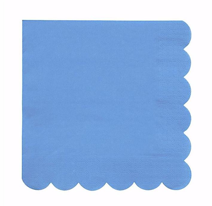 Bright Blue Paper Napkins