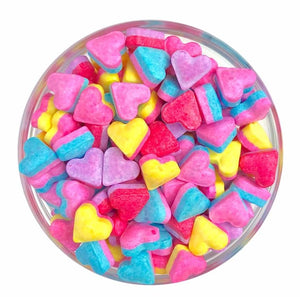 Bright Multicolored Heart Candy Shaped Sprinkles